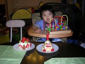 ママさん手作りのケーキ